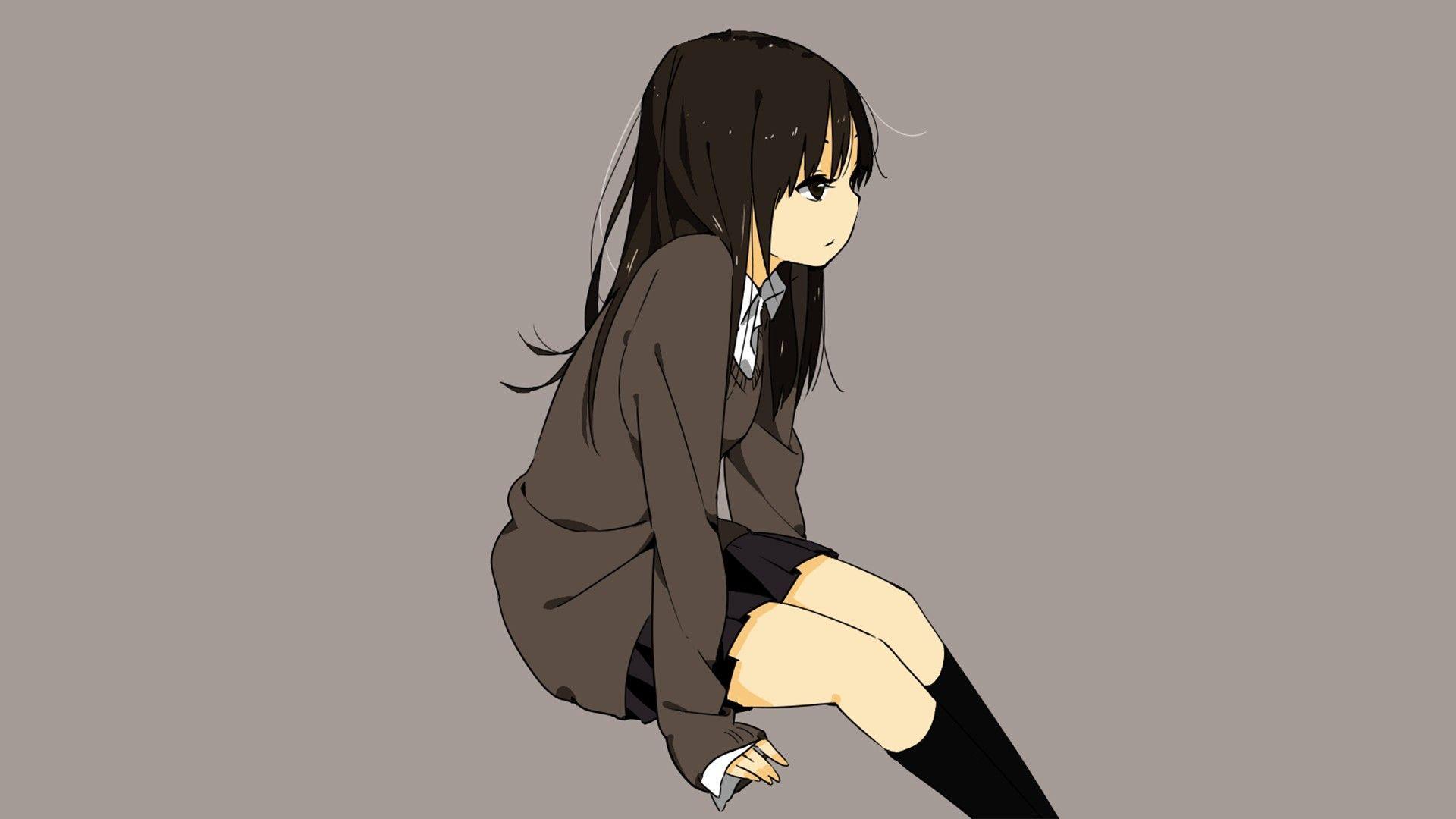 Ảnh nền anime cô đơn đẹp