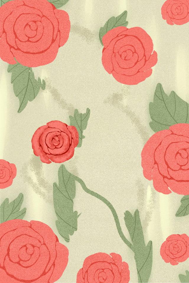 Background bông hoa và lá