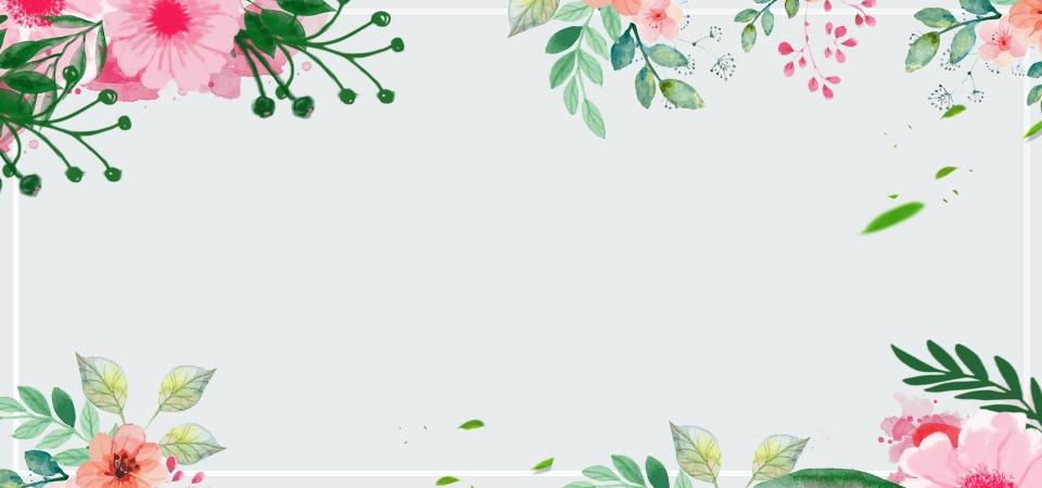 Background hoa lá dễ thương