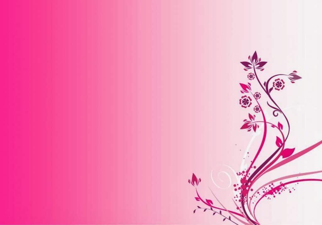 Background hoa lá màu hồng