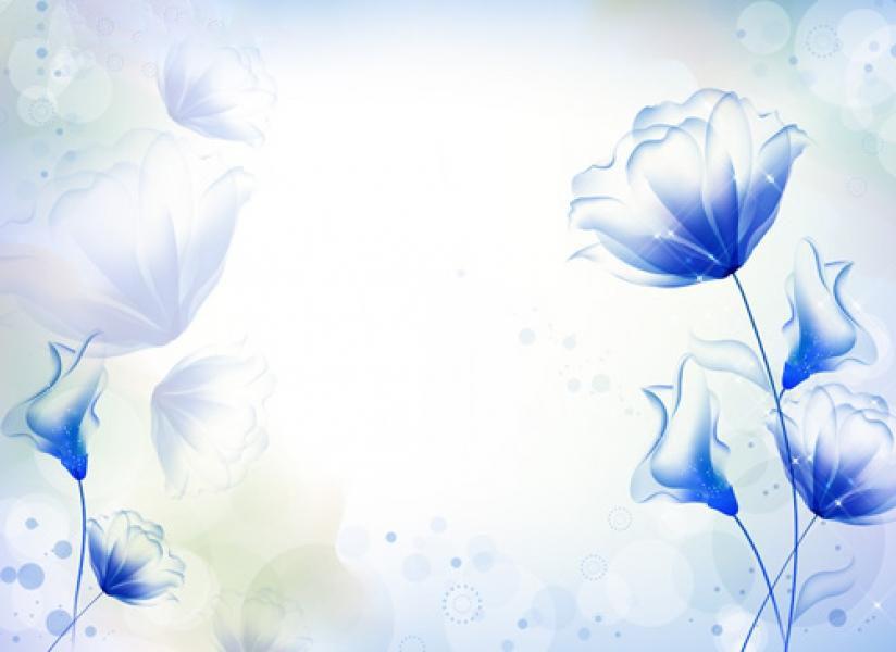 Background hoa lá màu xanh