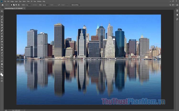 Cách tạo bóng gương trong Photoshop