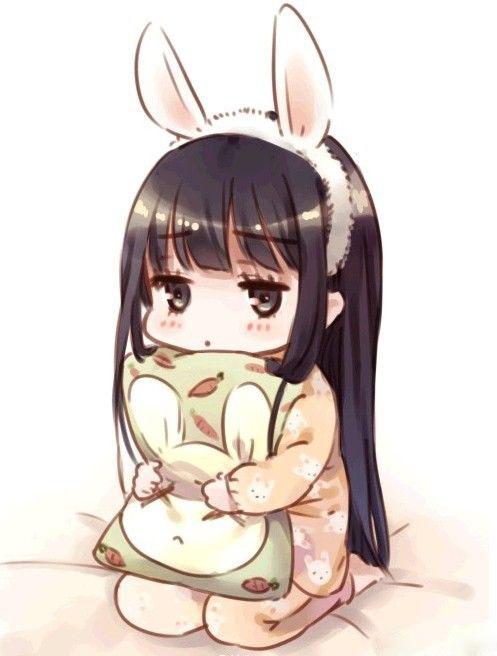Chibi girl buồn dễ thương