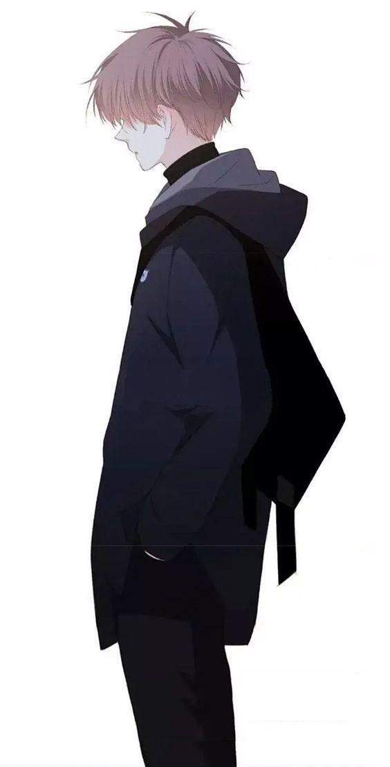 Hình ảnh anime boy đang cô đơn