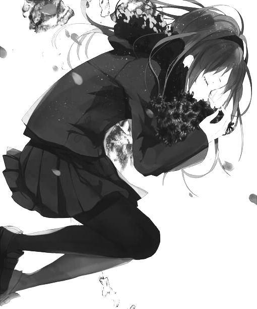 Hình ảnh anime nữ buồn cô đơn