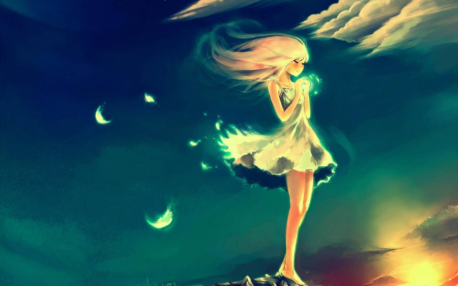 Hình ảnh anime nữ cô đơn