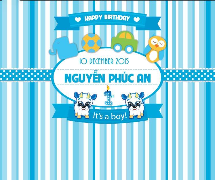 Hình ảnh backdrop sinh nhật bé trai