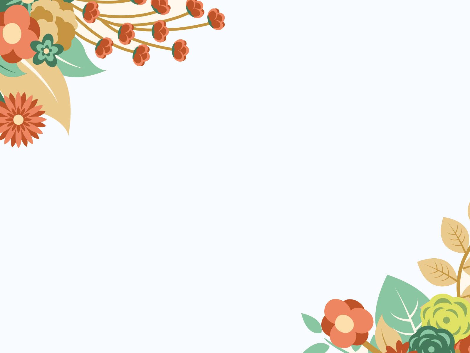 Hình ảnh background hoa lá cho power point