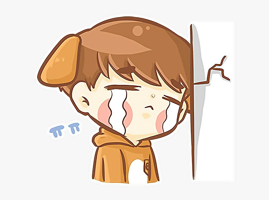 Hình ảnh dễ thương chibi boy buồn
