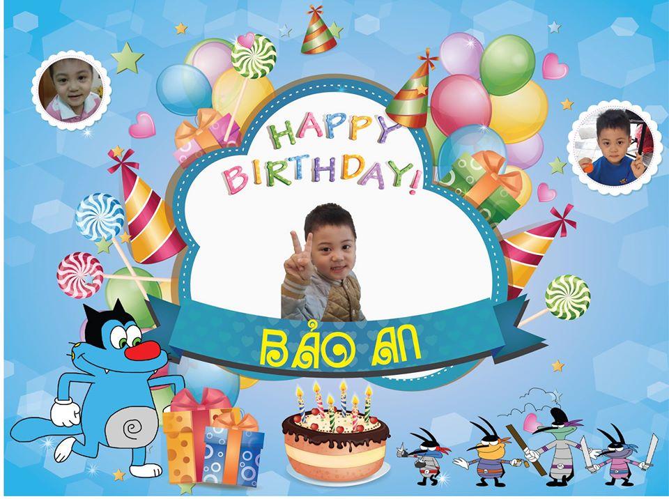 Hình ảnh phông nền sinh nhật bé trai đẹp