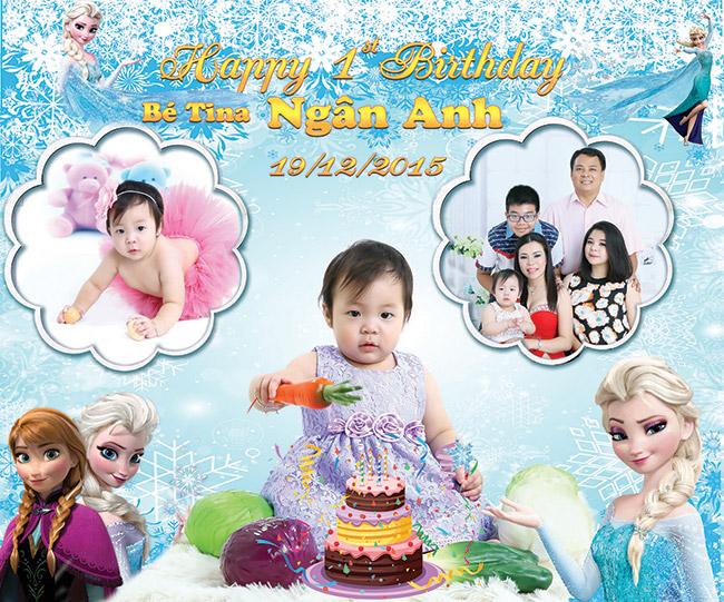 Hình ảnh phông nền sinh nhật cho bé và gia đình
