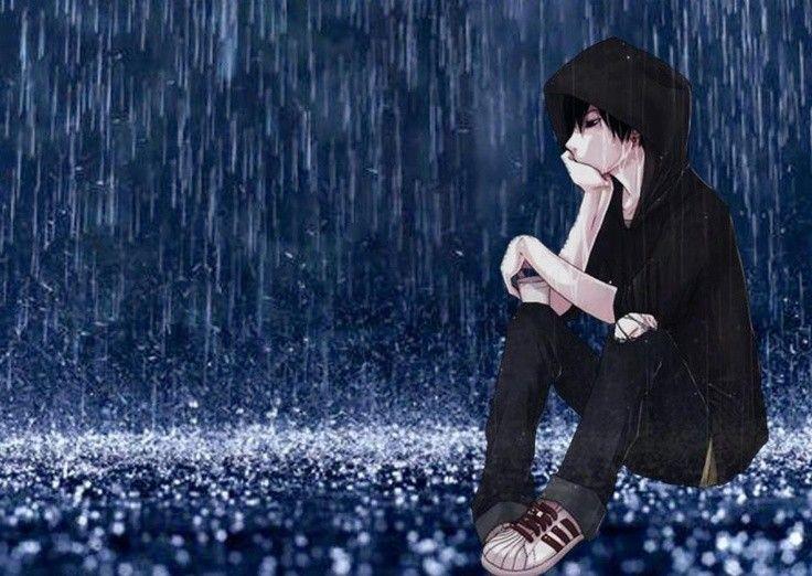 Hình anime boy cô đơn