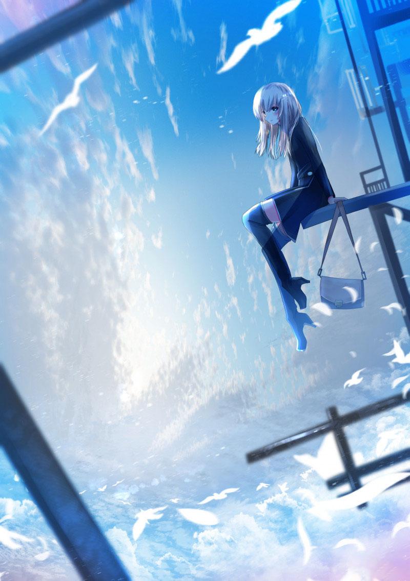 Hình anime cô đơn buồn tủi