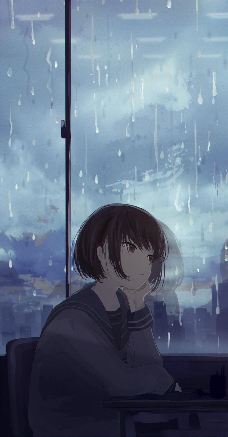 Hình anime cô đơn đẹp