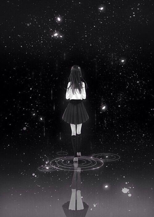 Hình anime cô đơn lẻ loi