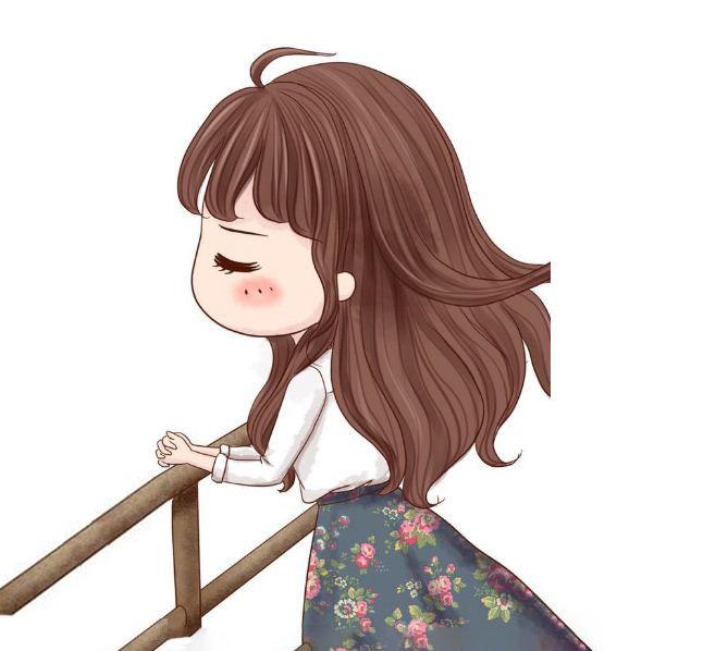 Hình chibi nữ buồn