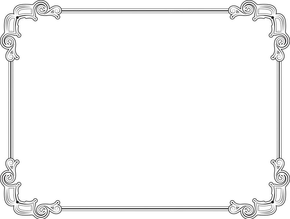 Khung viền cổ điển chữ nhật
