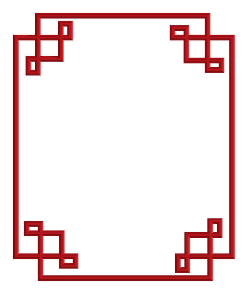 Khung viền cổ điển đỏ