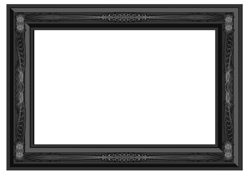 Khung viền cổ điển gỗ đen