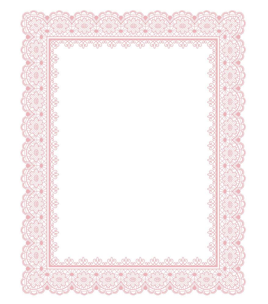 Khung viền cổ điển màu hồng
