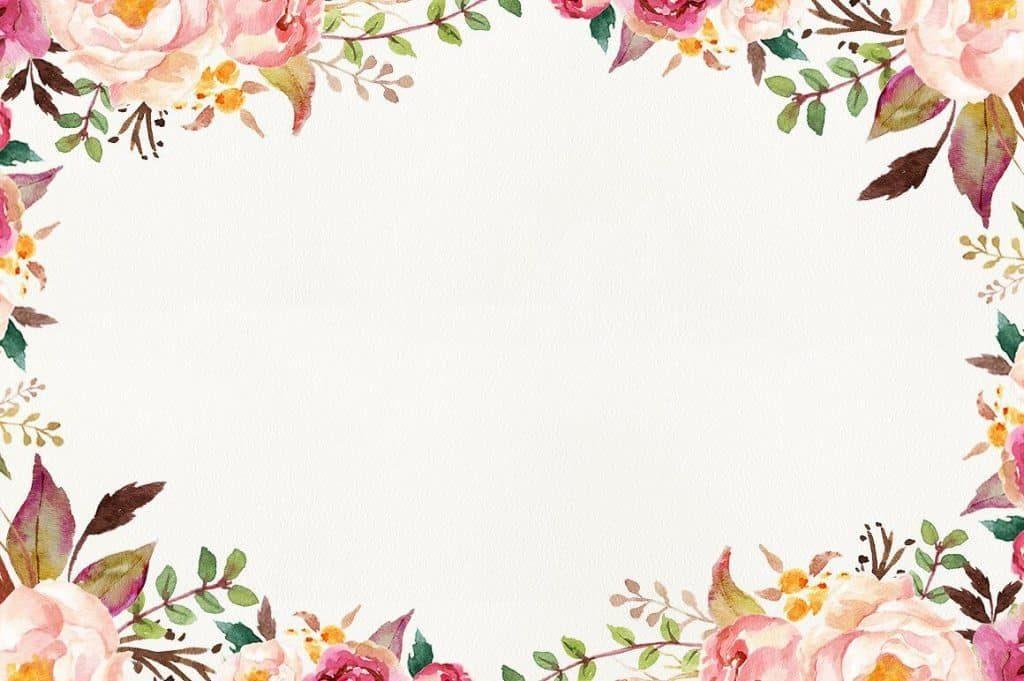 Mẫu background hoa lá đẹp