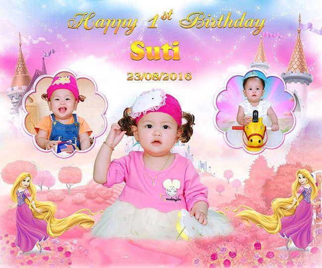 Phông nền sinh nhật bé gái