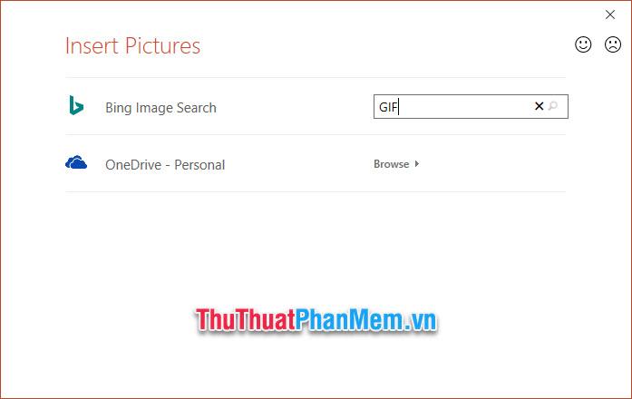 Với cách chèn ảnh trên mạng, các bạn cần phải tìm kiếm chúng kèm với từ khóa GIF