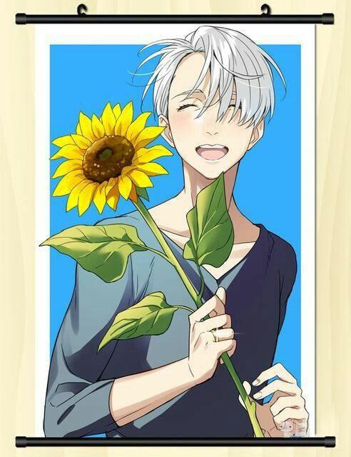 Ảnh anime boy hoa hướng dương