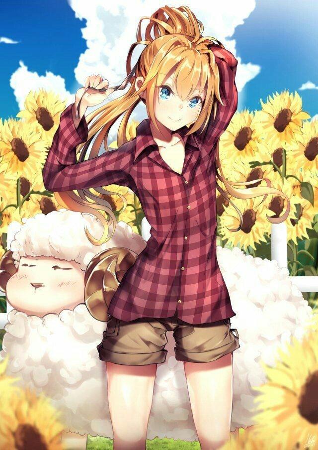 Ảnh anime hoa hướng dương đẹp và độc đáo