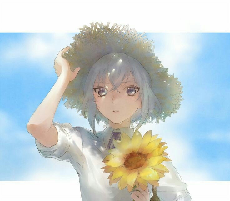 Ảnh anime hoa hướng dương ngầu