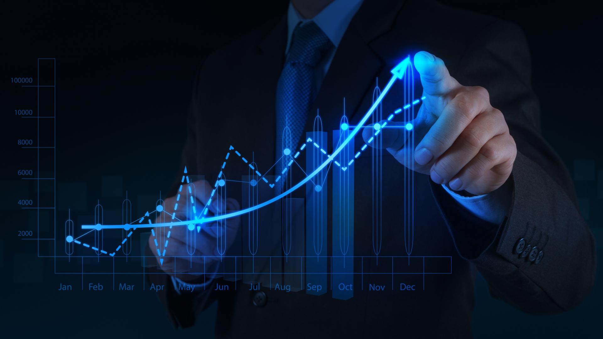 Ảnh nền Powerpoint đồ thị kinh tế