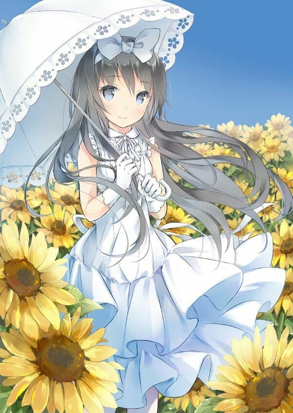 Ảnh về anime hoa hướng dương đẹp