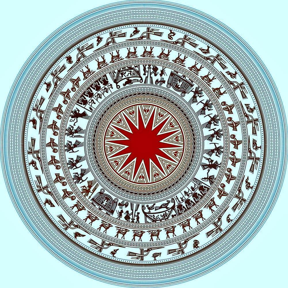 Background hình hoa văn trống đồng