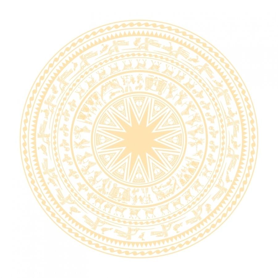 Background trống đồng vàng
