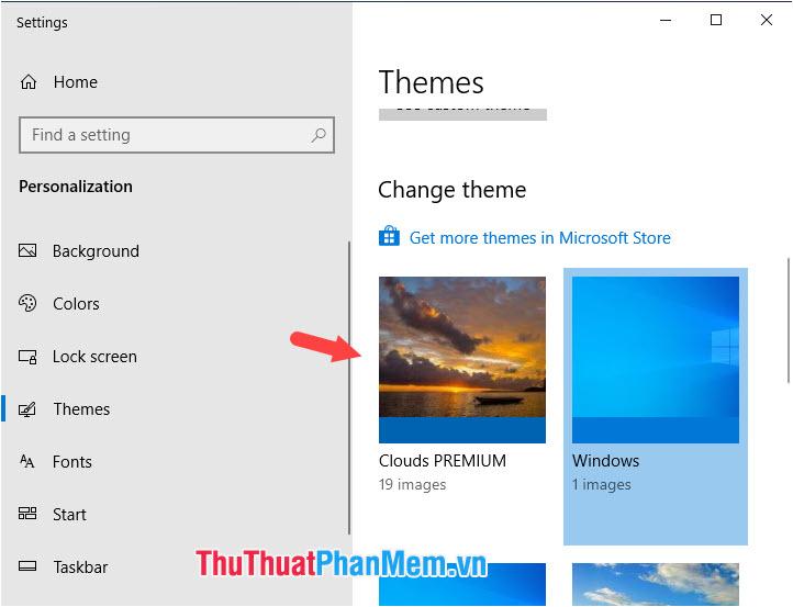 Bạn chỉ cần click vào Themes vừa tải về để thiết lập cho máy tính
