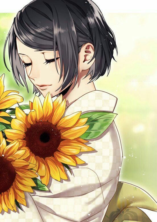 Hình ảnh anime hoa hướng dương đẹp