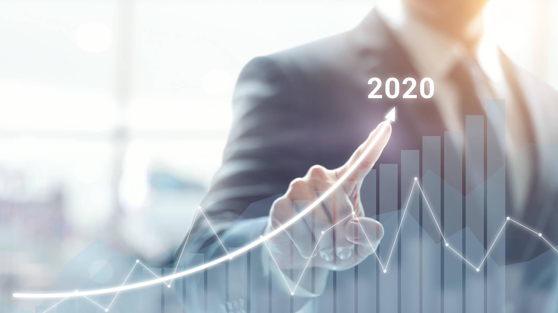 Hình nền kinh tế năm 2020 cho PowerPoint