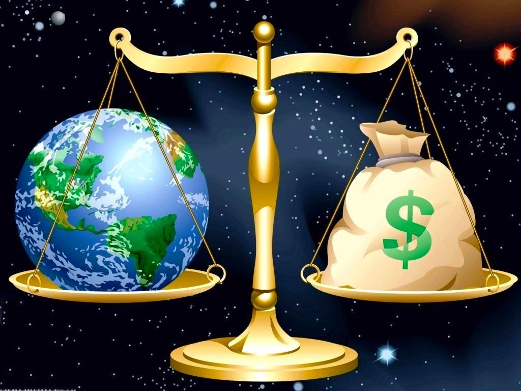 Hình nền Powerpoint cân bằng kinh tế