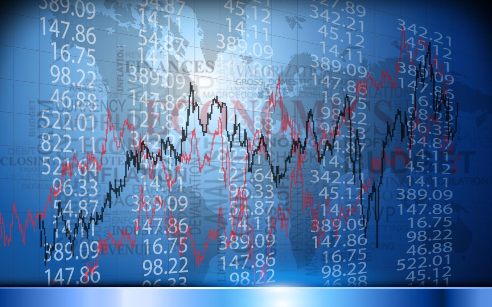 Hình nền Powerpoint kinh tế biến động