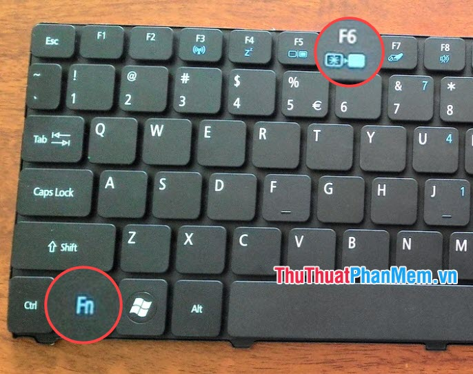 Sử dụng phím tắt chức năng trên bàn phím laptop