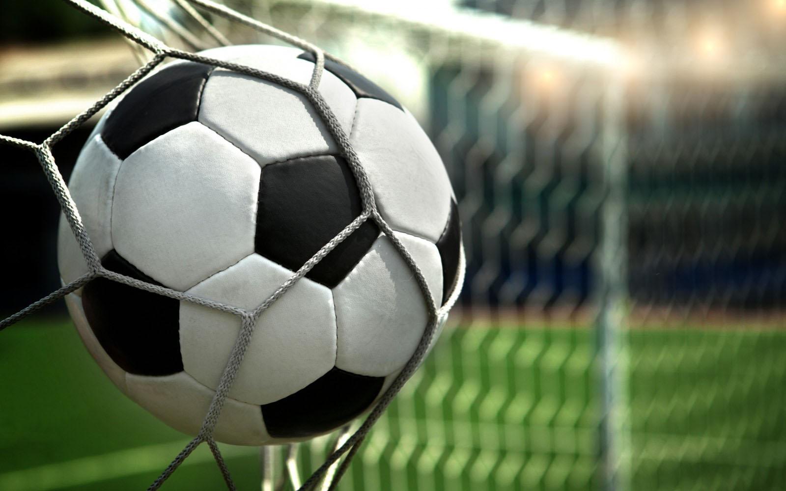 Background bóng đá chạm lưới