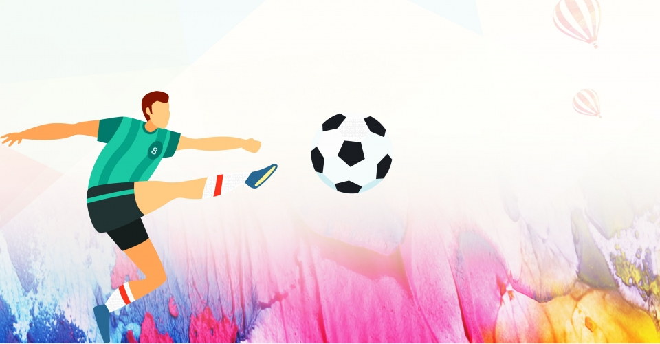 Background bóng đá hoạt hình