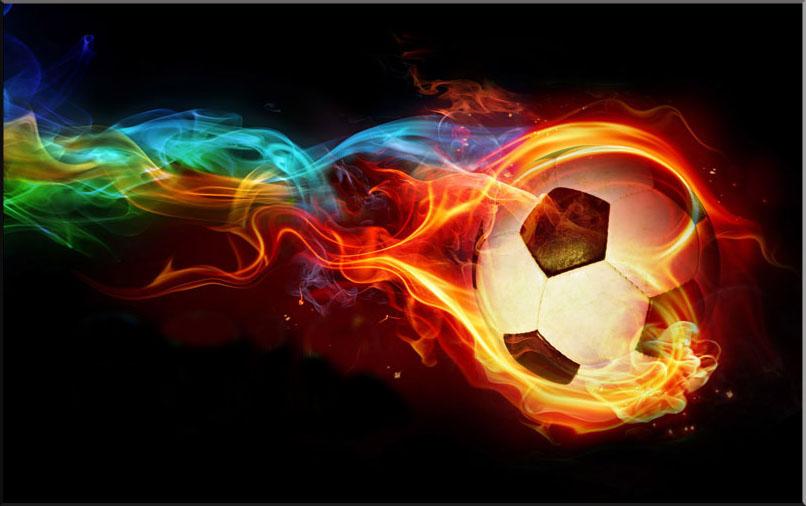 Background bóng đá lửa