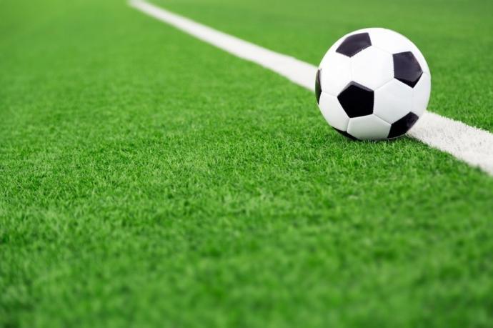 Background bóng đá trên vạch vôi