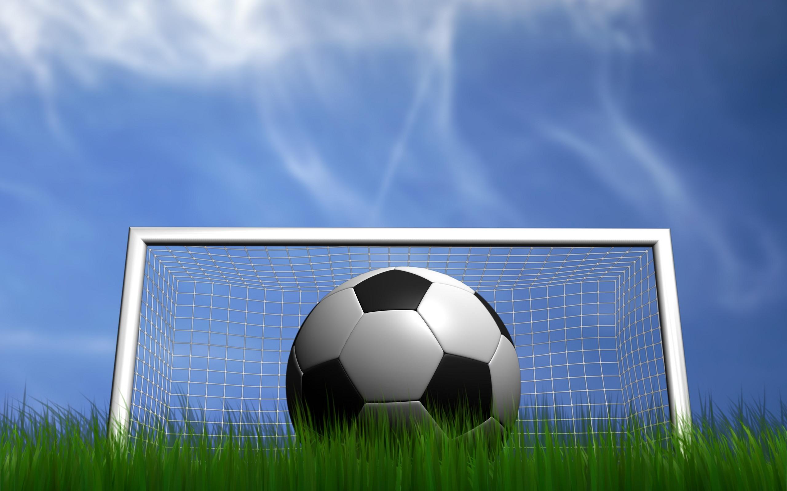 Background bóng đá trước khung thành