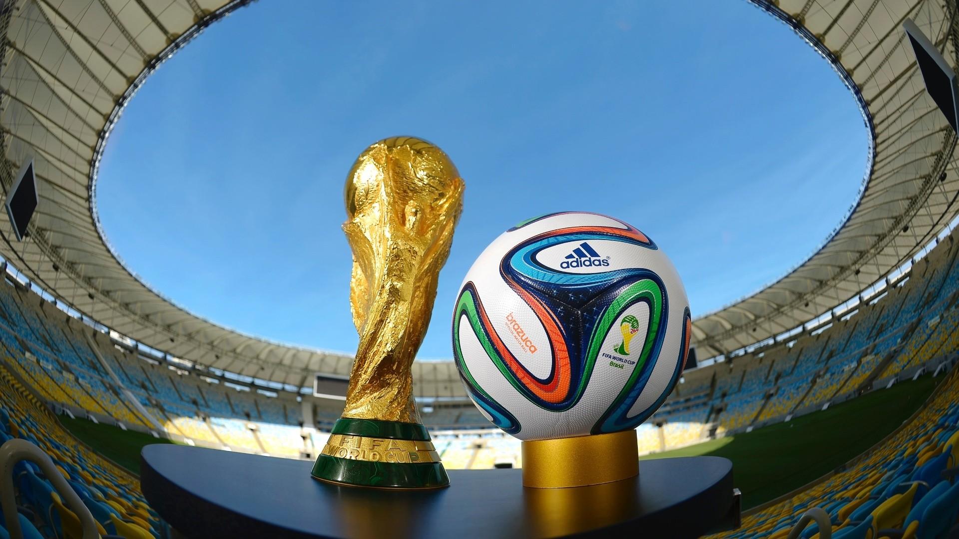 Background bóng đá và chiếc cúp