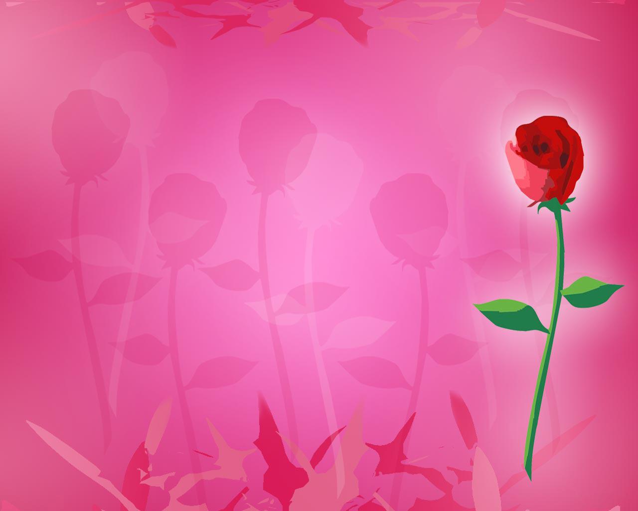 Background powerpoint hoa hồng