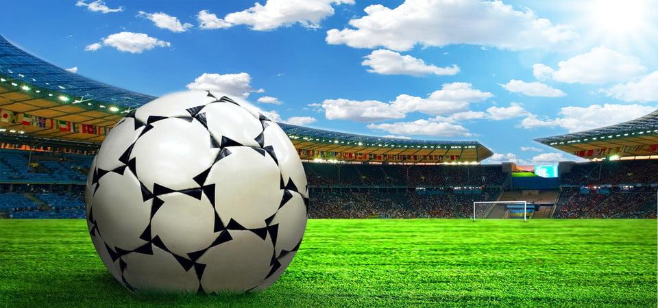 Background quả bóng đá trên sân