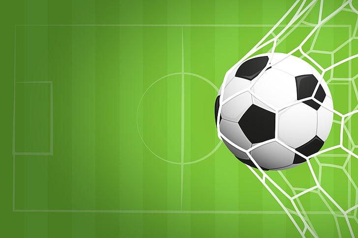 Background quả bóng đá trong lưới