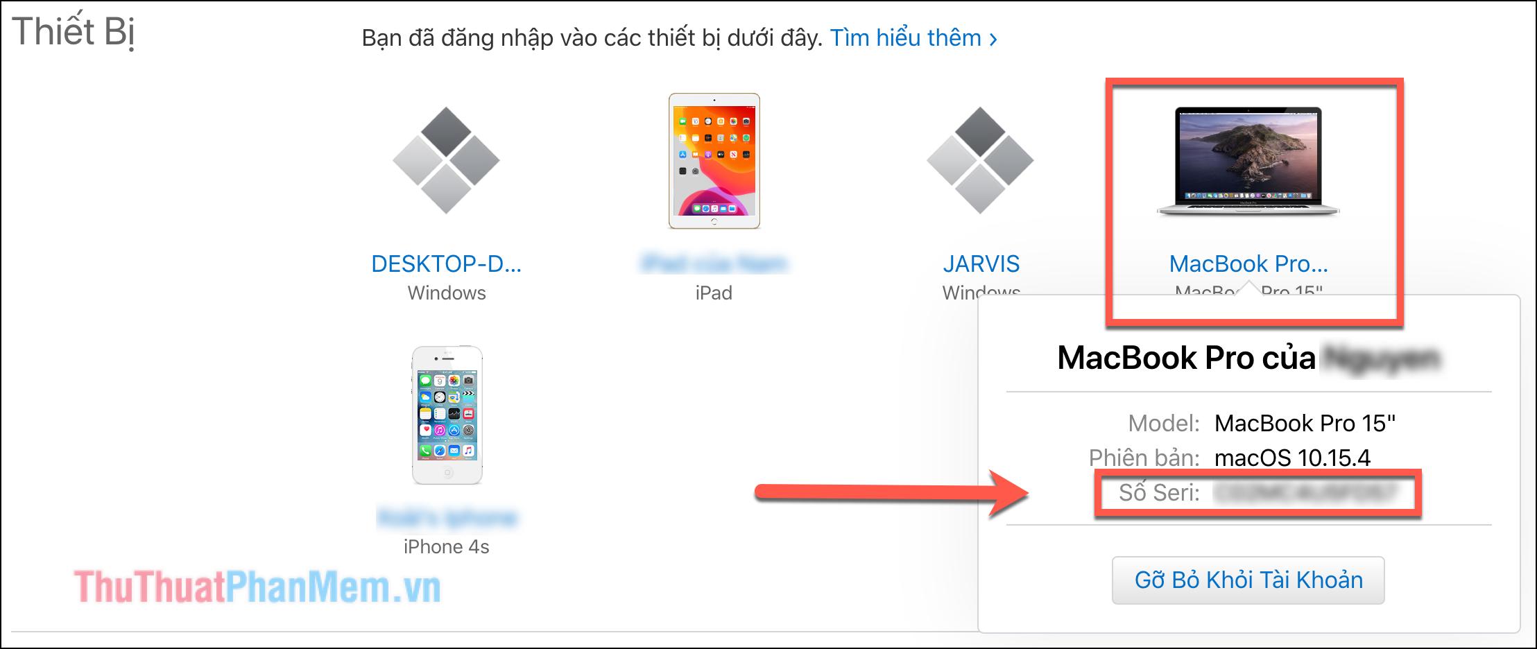 Click vào máy Mac của bạn và những thông tin cơ bản như Model, phiên bản MacOS cũng như số Sê-ri sẽ xuất hiện